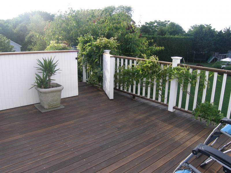 deck off the bedroom